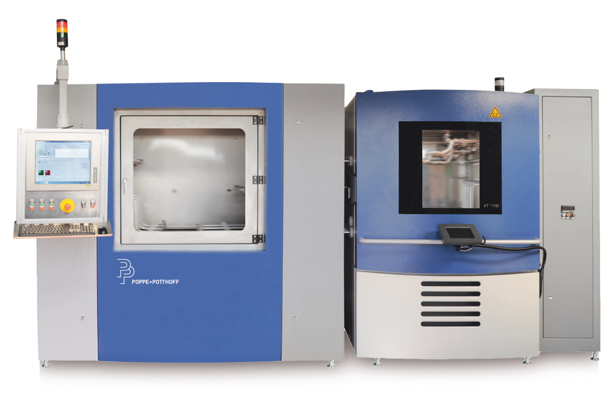 Pressure Load Change Test Bench for Automotive Components with two test chambers and climate chamber