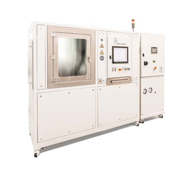 Function test bench with closed test chamber for automotive heating and cooling units